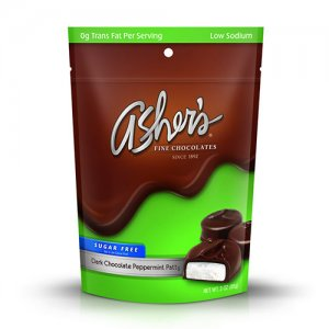 Asher's Chocolates Sugar Free Dark Chocolate Peppermint Patty