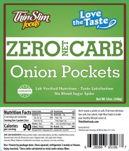 ThinSlim Foods Love-The-Taste Low Carb Onion Pockets