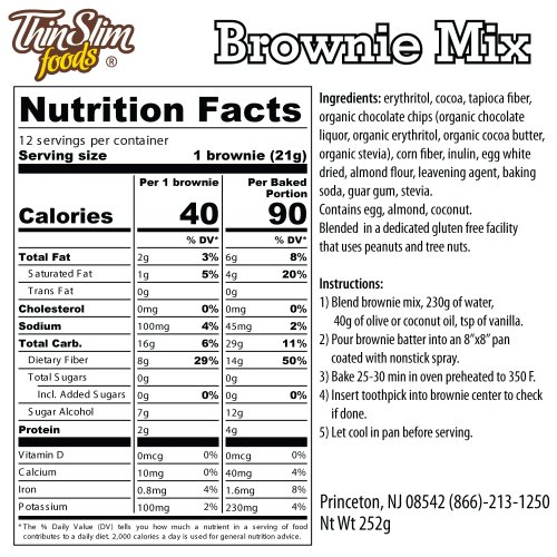 ThinSlim Foods Low Carb Mix Brownie - Click Image to Close