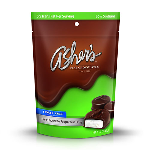 Asher's Chocolates Sugar Free Dark Chocolate Peppermint Patty - Click Image to Close