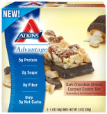 Atkins Dark Chocolate Almond Coconut Crunch Bar