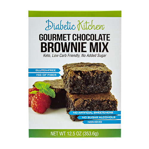 Diabetic Kitchen Low Carb Brownie Mix - Click Image to Close