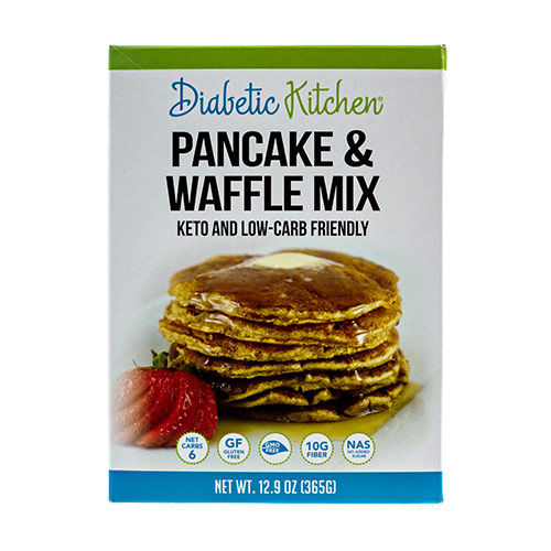 Diabetic Kitchen Low Carb Pancake and Waffle Mix - Click Image to Close