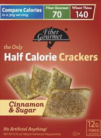 Fiber Gourmet Half Calorie Crackers, 6 pack