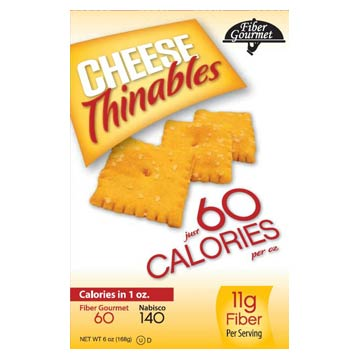 Fiber Gourmet Thinables Crackers 1oz., 50 pack - Click Image to Close