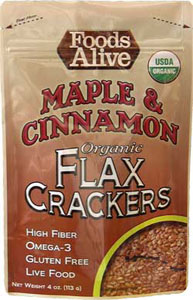 Foods Alive Organic Flax Crackers