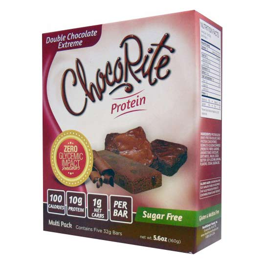 HealthSmart Foods ChocoRite Protein Bars, 5pack - Click Image to Close