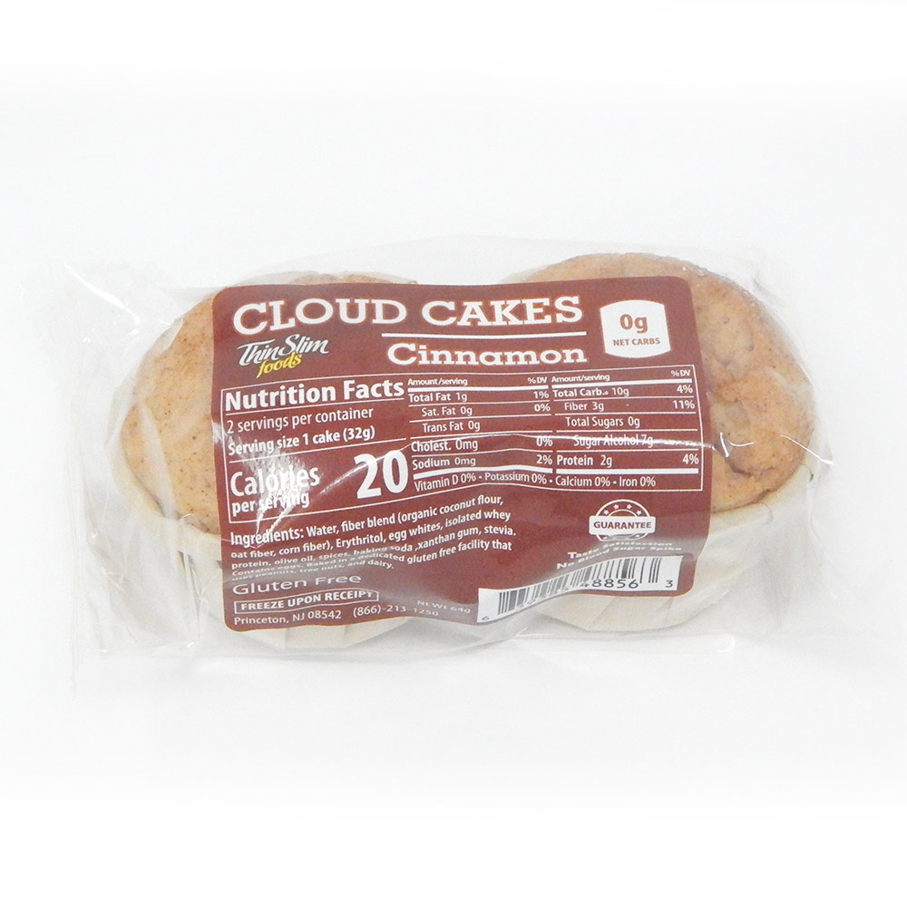 ThinSlim Foods Zero Carb Gluten Free Cloud Cakes, 2pack - Click Image to Close