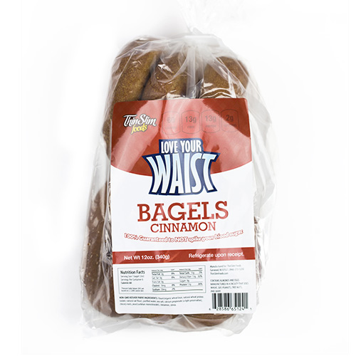 ThinSlim Foods Love-Your-Waist Low Carb Bagels - Click Image to Close